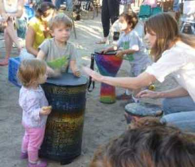 pot luck drumming with Monica